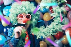 Crazy Young Party Man - Photo Booth Photo stock photos