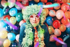 Crazy Young Party Man - Photo Booth Photo stock photography