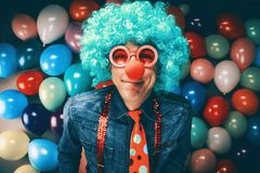 Crazy Young Party Man - Photo Booth Photo stock images