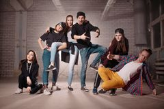 Crazy young people . concept of street people. groovy lifestyle. Careless generation Royalty Free Stock Photos