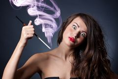 Crazy young woman Royalty Free Stock Images
