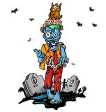 Crazy zombie cartoon Royalty Free Stock Photos