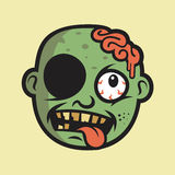 Crazy Zombie Head Character Design Royalty Free Stock Images