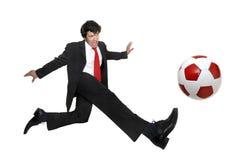 Crazyness di gioco del calcio Immagini Stock
