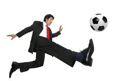 Crazyness du football Image libre de droits