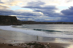 Crazys beach in Suances, Santander. Cantabria Royalty Free Stock Photo