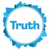 Círculo aleatório azul das formas da verdade Fotografia de Stock Royalty Free