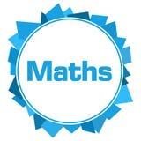 Círculo aleatório azul das formas das matemáticas Foto de Stock