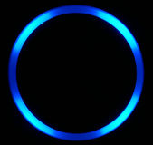 Círculo azul do diodo emissor de luz Imagem de Stock