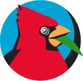 Círculo cardinal de Head Blade Grass retro Fotografía de archivo libre de regalías