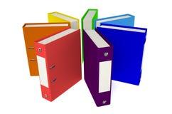 Círculo coloreado de las carpetas Fotografía de archivo libre de regalías