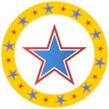 Círculo da estrela do circo Fotografia de Stock Royalty Free