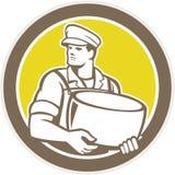 Círculo de Holding Parmesan Cheese del quesero Fotografía de archivo