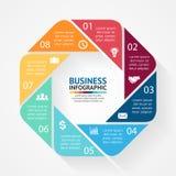 Círculo de negócio infographic, diagrama com opções Imagens de Stock