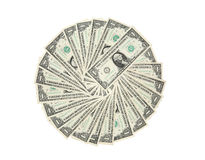 Círculo del dólar Imágenes de archivo libres de regalías