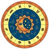 Círculo del horóscopo Foto de archivo libre de regalías