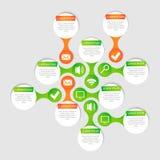 Círculo del vector para infographic Fotografía de archivo libre de regalías