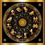Círculo del zodiaco Fotos de archivo libres de regalías
