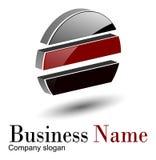 Círculo do logotipo 3d Fotografia de Stock