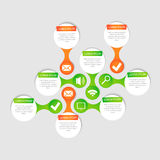 Círculo do vetor para infographic Imagens de Stock Royalty Free