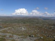 Círculo sagrado de Sami en Laponia Imagen de archivo libre de regalías