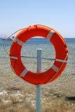 Círculo vermelho do salvamento Imagem de Stock Royalty Free
