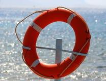Círculo vermelho do salvamento Imagens de Stock Royalty Free