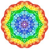 Círculo vibrante do vetor do caleidoscópio do arco-íris Fotos de Stock Royalty Free