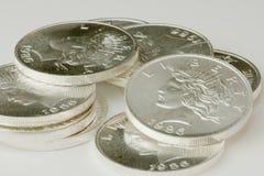 Círculos de prata Fotos de Stock