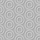 Círculos del fondo inconsútil Modelo inconsútil abstracto retro Fotografía de archivo