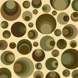 Círculos retros no verde Fotos de Stock