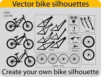 Cre??r fietssilhouetten Stock Foto's