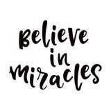 Crea en cartel de los milagros Imagen de archivo libre de regalías