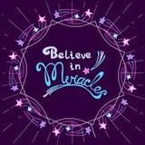 Crea en milagros Imagen de archivo
