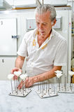 Creación color de rosa del azúcar foto de archivo libre de regalías