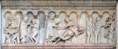Creación de Adán y de Eva, tentación imagen de archivo libre de regalías