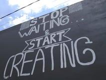 Creación de la pintura de pared Foto de archivo