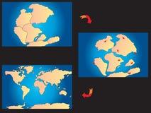 Creación de los continentes ilustración del vector