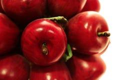 Creación de madera de la manzana roja y verde fotos de archivo libres de regalías