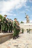 Creación de soldados con el arma Fotografía de archivo libre de regalías