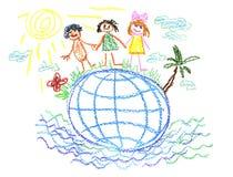 Creación del niño. Fotografía de archivo libre de regalías