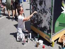 Creación viva durante festival MURAL almacen de video