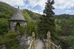 Creaciones de Antonio Gaudi en los jardines de Artigas Fotos de archivo