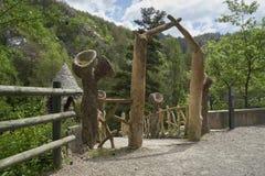 Creaciones inusuales de Antonio Gaudi Imagenes de archivo