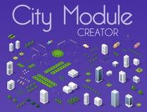 Creador del módulo de la ciudad ilustración del vector