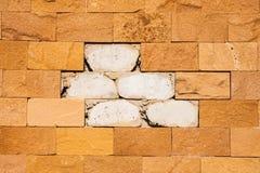 Creak brick stone wall Stock Images