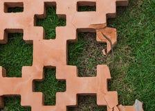 Creak decorative red bricks wall Royalty Free Stock Photos
