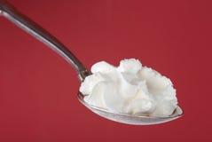 cream взбитая ложка стоковое изображение rf