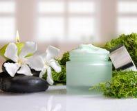 Cream вид спереди водорослей опарника с предпосылкой окон Стоковые Фотографии RF