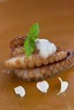 Cream восьминог стоковая фотография rf